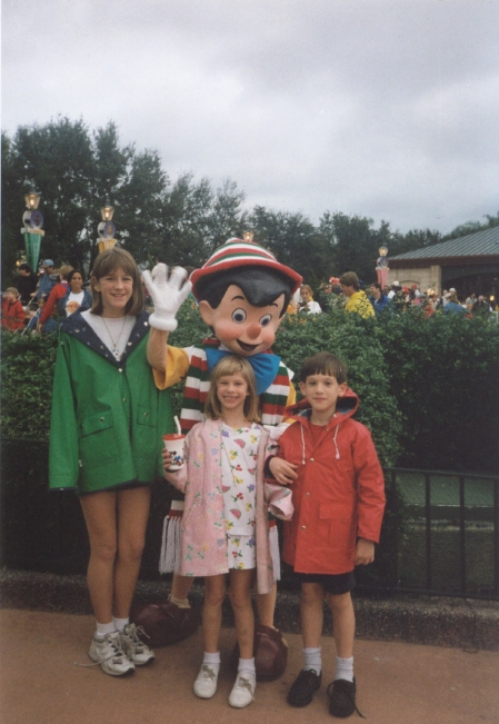 Disney Trip around 1997 - again with the great big sister