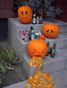 Haha, poor sad pumpkins had a little too much fun