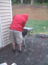 Albie grills Rain or Shine
