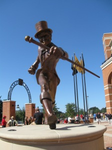 Demon Deacon outside of the stadium