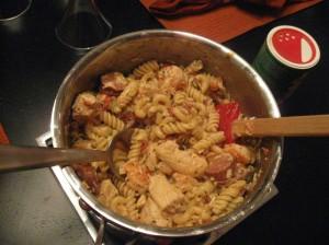 Finished Jambalya Pasta!