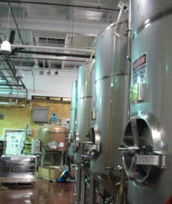 Inside the actual Brewery