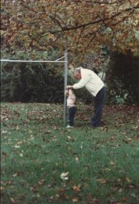 Katie and Granddad in October 1988