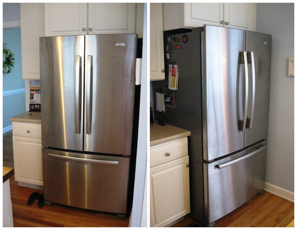 whirlpool gold french door refrigerator. we knew wanted the freezer on bottom since liked that in our last house, but were impartial to french doors or one door fridge. whirlpool gold refrigerator